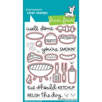 Lawn Fawn Let's BBQ Stamp+Die Bundle