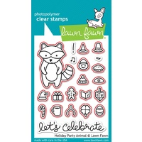 Lawn Fawn Holiday Party Animals Stamp+Die Bundle