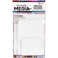 Dina Wakley Media Canvas Board Mixed Pack 6pk
