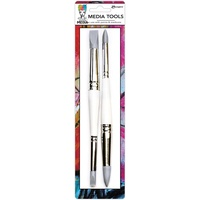 Dina Wakley Media Silicone Brush Media Tools 2pk