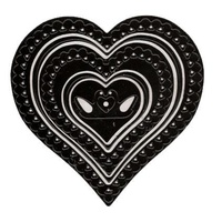 Nellie's Multi Frames Dies Heart Lace MFD022