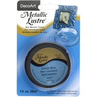 Deco Art Metallic Lustre Wax Finish 1oz Cosmic Blue