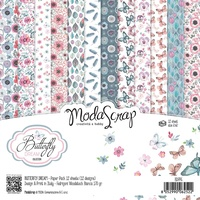 Elizabeth Craft Designs Modascrap 6x6 Inch Paper Pad Butterfly Dream