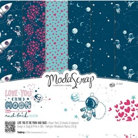 Elizabeth Craft Designs Modascrap 6x6 Inch Paper Pad Love You To The Moon And Back