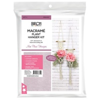 Birch Macrame Plant Hanging Kit Mini
