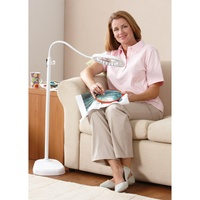 LED Floorstanding 2 in 1 Magnifying Lamp White