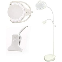 LED Rechargeable Floorstanding Magnifying Lamp with Clip