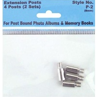 Pack Extension Screw Posts 8mm 4 Posts/Pkg (2 Sets)