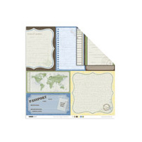 KaiserCraft set of 6 Themed Papers Double-Sided Pack Your Bags