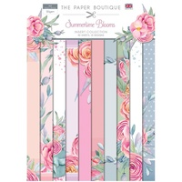 The Paper Boutique Summertime Blooms Insert Collection A4 40 Sheets 10 Designs