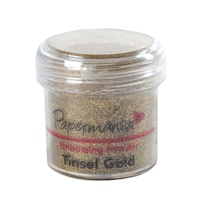 Papermania Embossing Powder Tinsel Gold 28g