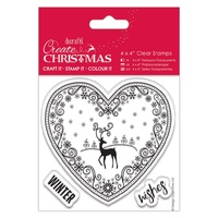 Docrafts Create Christmas 4x4 Stamps Filigree