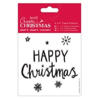 Docrafts Create Christmas 4x4 Stamps Happy Christmas