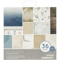 Kaisercraft Paper Pad Uncharted Waters 6.5x6.5 40/Pkg