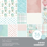 Kaisercraft Paper Pad Little Treasures 6.5X6.5 40/Pkg