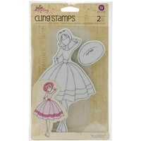 Prima Marketing Julie Nutting Cling Stamps Audrey