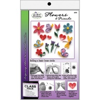 Quilled Creations Quilling Kit Flowers & Friends Class Pack