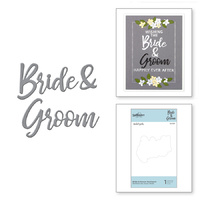 Spellbinders Dies DLites Bride & Groom Sentiment Wedding Season S2-307