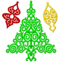 Spellbinders Shapeabilities Holiday Tree 2012 Christmas Die S4-339
