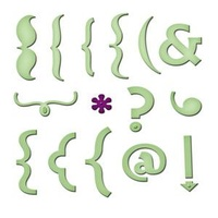 Spellbinders Shapeabilities Keyboard Icons Dies S4-372
