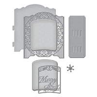 Spellbinders Grand Holiday Cabinet Etched 3D Dies S6-157