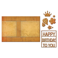 Spellbinders Card Creator Die Step Card Decorated Birthday S7-202