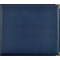 Kaisercraft D Ring Album 12x12 Leather Navy