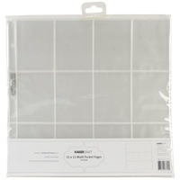 Kaisercraft D-Ring Album Refills 12X12 Twelve 3x4 inch Pockets 10/Pkg