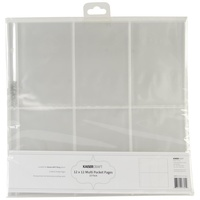 Kaisercraft D-Ring Album Refills 12X12 (6) 6X4 Pockets Portrait 10/Pkg