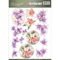 Jeanines Art With Sympathy 3D Decoupage A4 Sheet - Sympathy Flowers