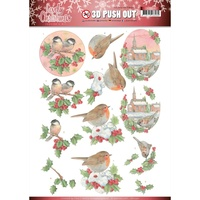 Jeanines Art Lovely Christmas 3D Decoupage A4 Sheet Birds