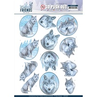 Amy Design 3D Decoupage A4 Sheet Winter Friends Winter Wolves