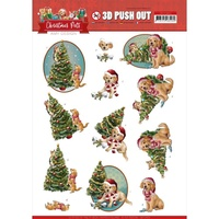 Amy Design 3D Decoupage A4 Sheet Pets Christmas Tree SB10463