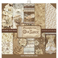 Stamperia Double-Sided Paper Pad 12x12 10/Pkg Old Lace
