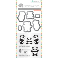 Mama Elephant Stamp And Die Set Panda