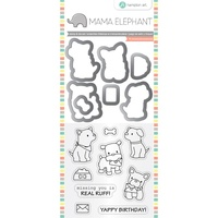 Mama Elephant Stamp And Die Set Puppy Play