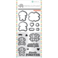 Mama Elephant Stamp And Die Set Lovely Puppy
