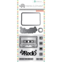 Mama Elephant Stamp And Die Set Mix Tape