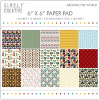 6x6 Simply Creative Paper Pad Around The World 30/pkg
