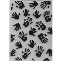 Embossing Folder Hand Prints 10.5cm x 14.5cm