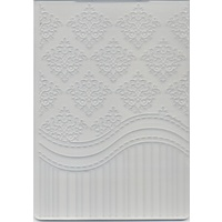 Embossing Folder Damask And Stripes Background 5x7 Inches