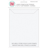 Avery Elle Large Stamp & Die Storage Pockets 50/Pkg 8.5 x 5.5 inch