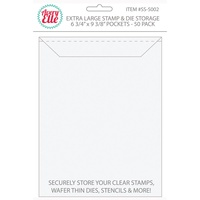 Avery Elle Extra Large Stamp & Die Storage Pockets 50/Pkg 10.75 x 6.75 inch