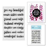 Spellbinders Clear Stamps Family Sentiments STP-006