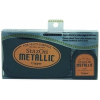 StazOn Ink Pad Metallic Ink Kit Copper