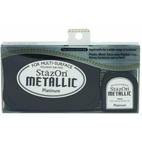 StazOn Ink Pad Metallic Ink Kit Platinum
