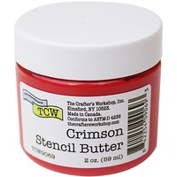 The Crafters Workshop Stencil Butter 59g Crimson