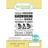 Taylored Expressions Stamp Graphic Greetings Dad