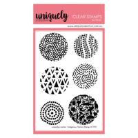 Uniquely Creative Indigenous Texture Stamp - Acrylic Stamp