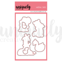 Uniquely Creative Hey Mama...Critter Cuddles Fussy Cutting Die